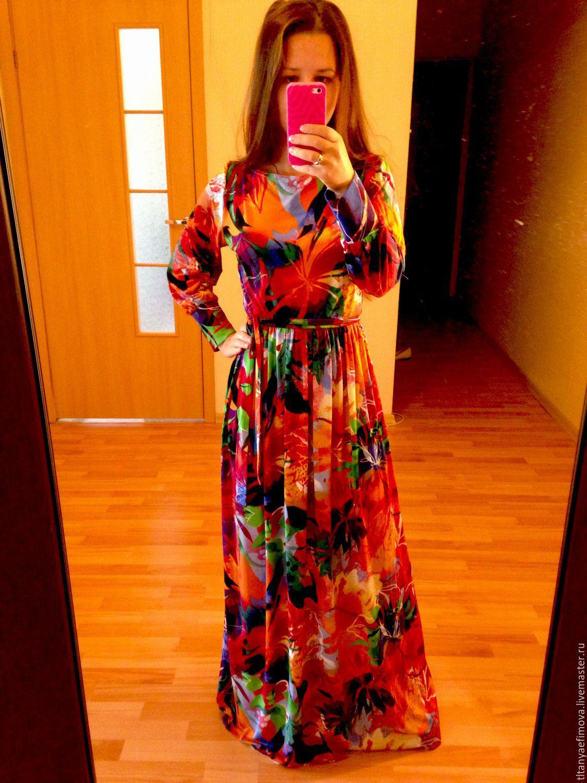 Платье в пол на весну