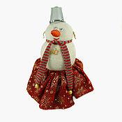 Подарки к праздникам ручной работы. Ярмарка Мастеров - ручная работа Снеговик Девочка. Handmade.