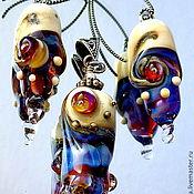 Украшения handmade. Livemaster - original item set Earrings and pendant. Handmade.