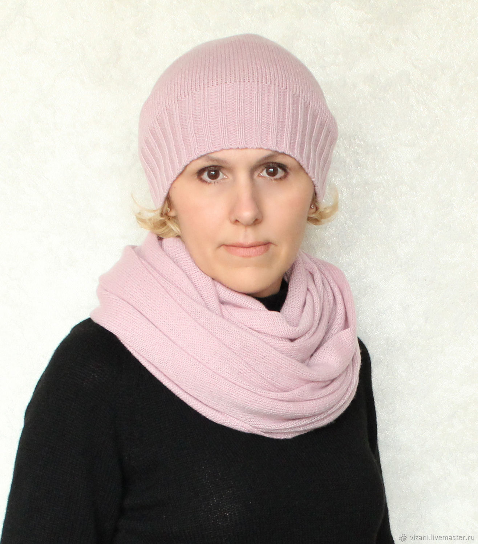 Комплект из кашемира. Шапочка+снуд или шапочка+шарф, Комплекты аксессуаров, Смоленск, Фото №1