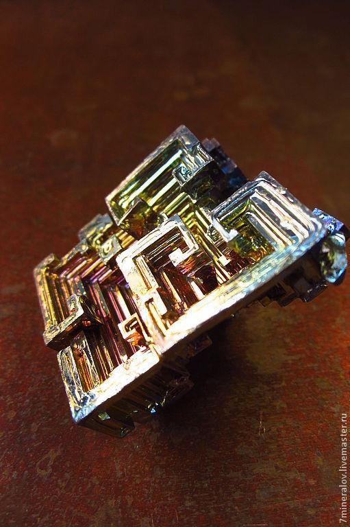 """Минералы, друза ручной работы. Ярмарка Мастеров - ручная работа. Купить Висмут """"Геометрия пирамиды"""" Кристалл металла висмут. Handmade."""