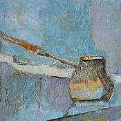 """Картины и панно ручной работы. Ярмарка Мастеров - ручная работа Картина """"Натюрморт с туркой"""". Handmade."""