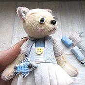 Куклы и игрушки ручной работы. Ярмарка Мастеров - ручная работа Кошечка-морячка. Handmade.