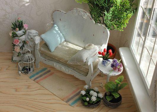 """Кукольный дом ручной работы. Ярмарка Мастеров - ручная работа. Купить Композиция """"Зимний сад"""". Handmade. Кукольный дом, миниатюра"""