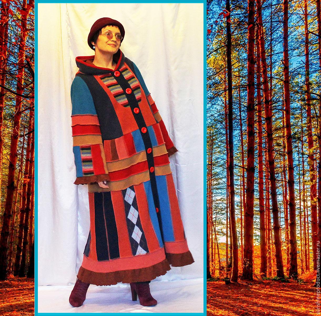 """Легкое трикотажное пальто """"Ах, осень, эта рыжая девица!"""", Пальто, Харьков,  Фото №1"""