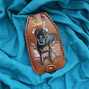 """Сумки и аксессуары handmade. Livemaster - original item Leather key case """"SUZY"""". Handmade."""