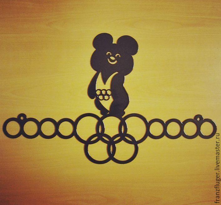 """Подарки для мужчин, ручной работы. Ярмарка Мастеров - ручная работа. Купить Медальница """"Олимпийский мишка"""". Handmade. Спорт, подарок на новый год"""