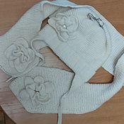 Свитеры ручной работы. Ярмарка Мастеров - ручная работа Детская шапка с шарфом. Handmade.