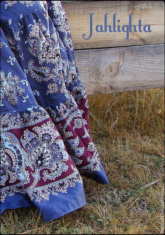 """Юбки ручной работы. Ярмарка Мастеров - ручная работа. Купить Длинная юбка с карманами """"Голубика"""". Handmade. Синий, юбка в пол"""
