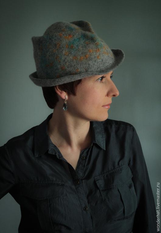 Шляпы ручной работы. Ярмарка Мастеров - ручная работа. Купить Шляпка Earl Grey. Handmade. Серый, мужская шляпа