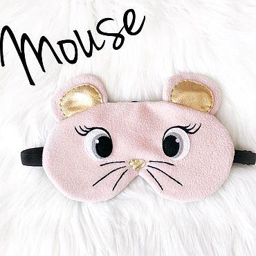 """Одежда ручной работы. Ярмарка Мастеров - ручная работа Маска для сна """"Мышка"""". Handmade."""