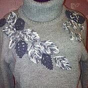 Одежда ручной работы. Ярмарка Мастеров - ручная работа джемпер с листьями. Handmade.