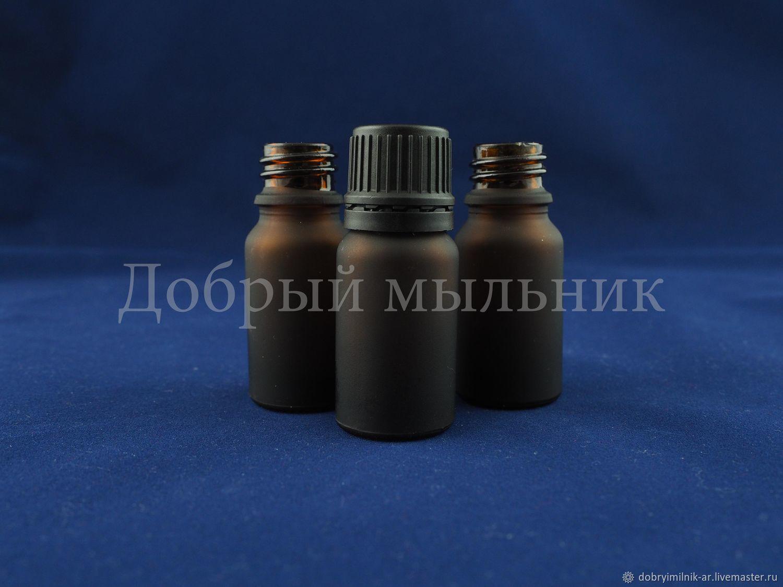 Флакон 10 мл стекло матовый коричневый, Флаконы, Москва,  Фото №1