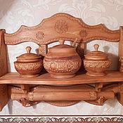 Для дома и интерьера ручной работы. Ярмарка Мастеров - ручная работа полка для специй. Handmade.