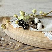 """Украшения ручной работы. Ярмарка Мастеров - ручная работа Серьги """"Белые лепестки"""". Handmade."""