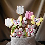 Сувениры и подарки handmade. Livemaster - original item A bouquet of gingerbread.Gingerbread Spring bouquet.. Handmade.