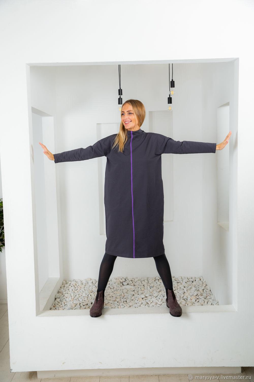 Платье-свитер, темно-серое, Платья, Москва,  Фото №1