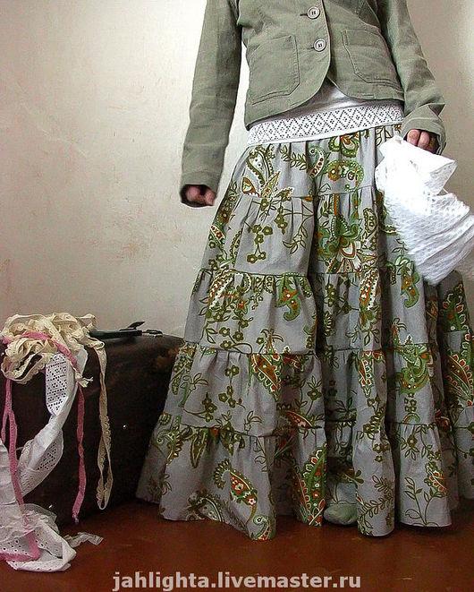 """Юбки ручной работы. Ярмарка Мастеров - ручная работа. Купить Длинная юбка """"Сумеречные цветы"""". Handmade. Юбка длинная, пейсли"""