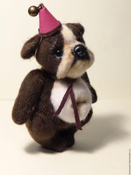 Мишки Тедди ручной работы. Ярмарка Мастеров - ручная работа. Купить Бульдожка Бузик (10см). Handmade. Коричневый, мех для миниатюры