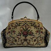 Сумки и аксессуары handmade. Livemaster - original item Vintage tapestry handbag Retro, Germany. Handmade.