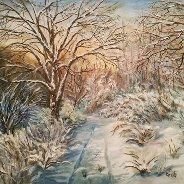 Картины и панно ручной работы. Ярмарка Мастеров - ручная работа Зимняя сказка. Handmade.