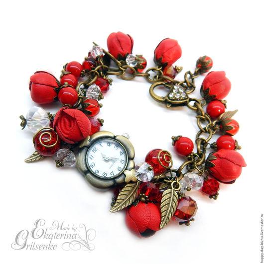 часы, часы женские, наручные часы, часы наручные женские, часы браслет, красный браслет, женские наручные часы, украшение на руку, часы наручные, женские наручные часы, часы на руку, часы купить