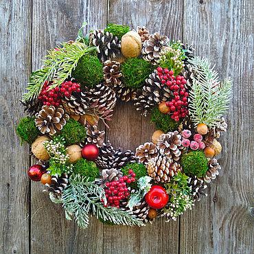 Souvenirs and gifts handmade. Livemaster - original item Gifts: Christmas wreath. Handmade.
