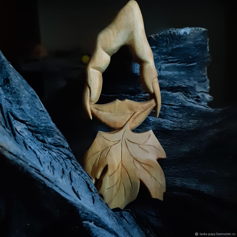Деревянная брошь-булавка: Красота осени, Брошь-булавка, Тамбов,  Фото №1