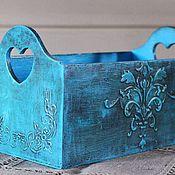 Для дома и интерьера ручной работы. Ярмарка Мастеров - ручная работа Голубая коробочка,хлебница,короб. Handmade.