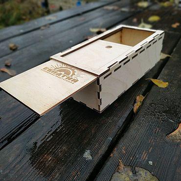 Материалы для творчества ручной работы. Ярмарка Мастеров - ручная работа Подарочная коробка Пенал (упаковка) из фанеры. Handmade.