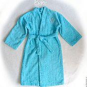 Одежда ручной работы. Ярмарка Мастеров - ручная работа Детский банный халат. Handmade.