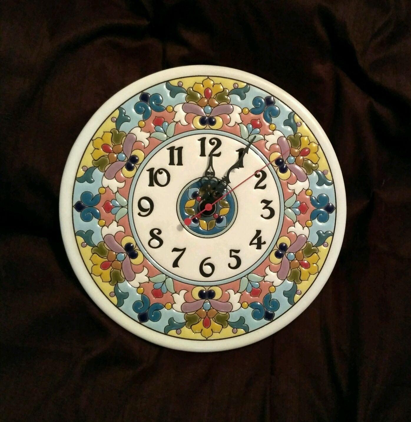 Wall clock decorative,ceramic,round, Watch, Moscow,  Фото №1