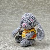 Тедди Зверята ручной работы. Ярмарка Мастеров - ручная работа Маленький зайчик в костюме морковки. Handmade.