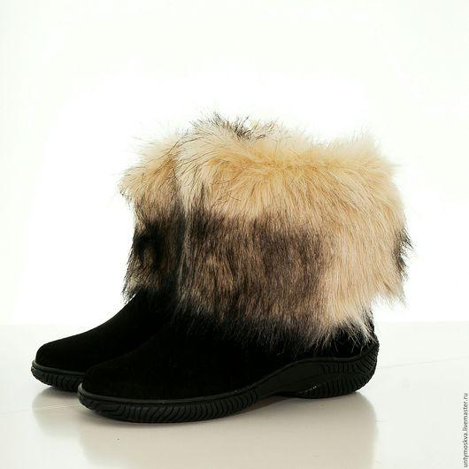 Обувь ручной работы. Ярмарка Мастеров - ручная работа. Купить Унты женские ( литая подошва ) уж71. Handmade.