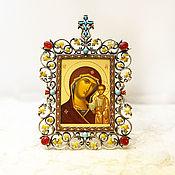 Картины и панно handmade. Livemaster - original item Kazan icon of the Mother of God-wood, silver. Handmade.