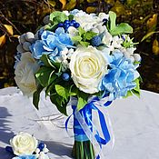 """Букеты ручной работы. Ярмарка Мастеров - ручная работа Букет невесты  """"Голубая мечта"""". Handmade."""