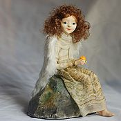 Куклы и игрушки handmade. Livemaster - original item Angel with orange. art doll. Handmade.