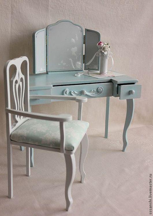 Кукольный дом ручной работы. Ярмарка Мастеров - ручная работа. Купить Трюмо в стиле шебби шик (1:4). Handmade.