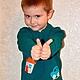"""Одежда для мальчиков, ручной работы. Ярмарка Мастеров - ручная работа. Купить Свитер для мальчика """"Мой мир"""". Handmade. Болотный"""