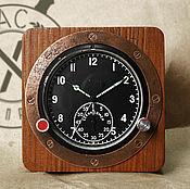 Для дома и интерьера ручной работы. Ярмарка Мастеров - ручная работа Часы военные 60ЧП в деревянном винтажном корпусе. Handmade.
