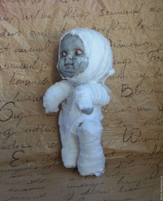 Коллекционные куклы ручной работы. Ярмарка Мастеров - ручная работа. Купить Малыш Мумия. Handmade. Белый, авторская игрушка, хлопок