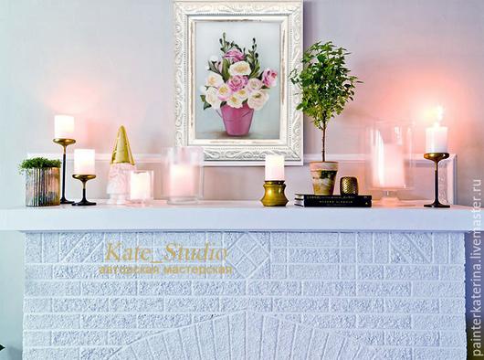 """Картины цветов ручной работы. Ярмарка Мастеров - ручная работа. Купить Картина """"Нежный букет"""". Handmade. Розовый, картина для дома"""