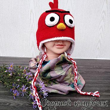 """Товары для малышей ручной работы. Ярмарка Мастеров - ручная работа Шапочка """"Angry Birds"""". Handmade."""