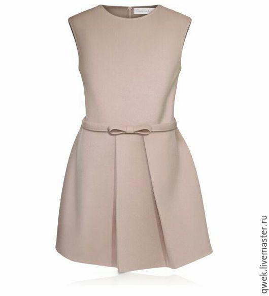 Одежда для девочек, ручной работы. Ярмарка Мастеров - ручная работа. Купить Реплики высокой моды. Платье для девочки. Handmade. Серый