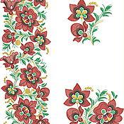 """Схемы для вышивки ручной работы. Ярмарка Мастеров - ручная работа Набор для машинной вышивки """"Хохлома"""". Handmade."""