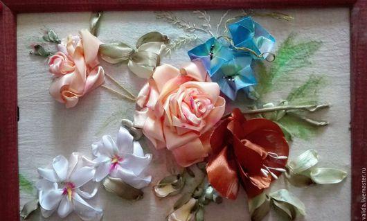 Картины цветов ручной работы. Ярмарка Мастеров - ручная работа. Купить Летний букет. Handmade. Комбинированный, розы