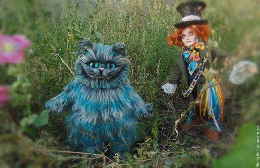 Сказочные персонажи ручной работы. Ярмарка Мастеров - ручная работа. Купить Чеширский кот. Handmade. Серый, полимерная глина