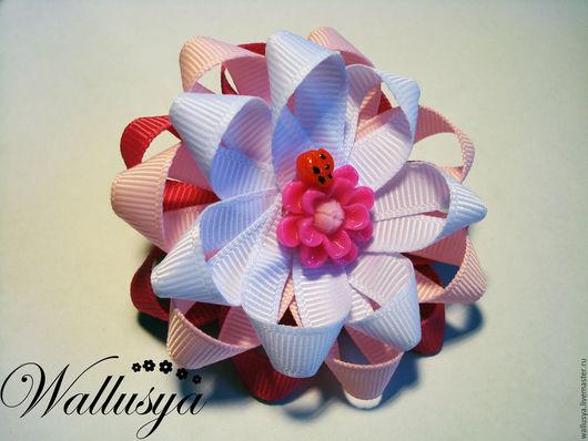 """Детская бижутерия ручной работы. Ярмарка Мастеров - ручная работа. Купить Бантики для волос """"Розовая нежность"""". Handmade. Бантик"""