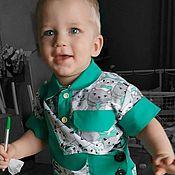 Комплекты одежды ручной работы. Ярмарка Мастеров - ручная работа Костюм для мальчика (рубашка+комбинезон). Handmade.