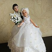 Свадебный салон handmade. Livemaster - original item figures: The Bride and groom. Box money.. Handmade.